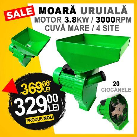 Moara Macinat Cereale Uruiala 3.8KW 3000rpm 300kg/h Bobinaj Cupru