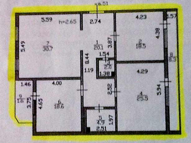 Продам 3х ком квартиру в центре города, напротив Ак Орды, дом кирпичны