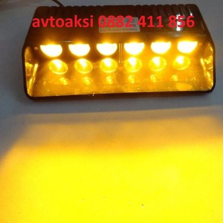LED сигнална лампа блиц режим 6 диода 18W-1633