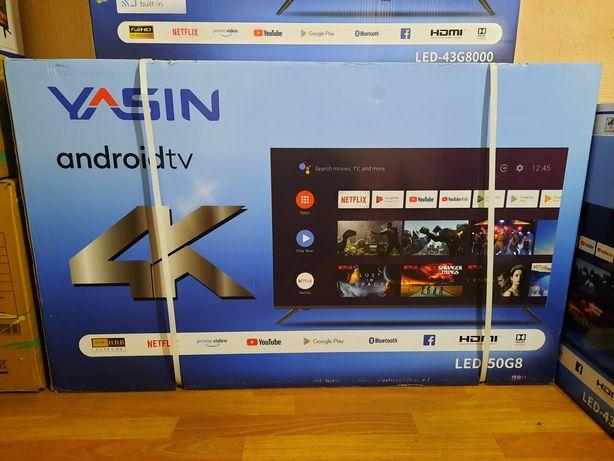 Телевизор YASIN 50g8 (127см), 4k Androidtv