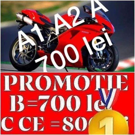 Instructor auto valcea C CE ;B 700 ;D 1500 promotie