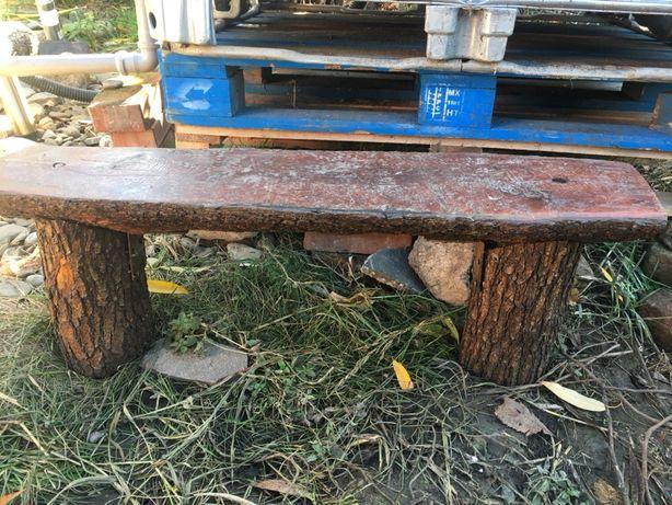 Bancuta rustica din stejar masiv