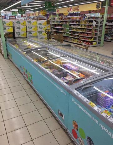 Морозильная ларь-бонета 2,5м (Россия) 1100л бу, 40шт