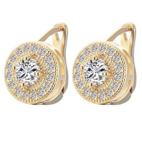 GPR214,cercei placati aur 18k,incuietoare sigura,lucratura diamant