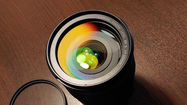 VAND/Schimb Canon EF-S 17-55mm f/2.8 USM IS + Filtru UV Hoya 77mm