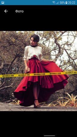 Атласная юбка от Диор