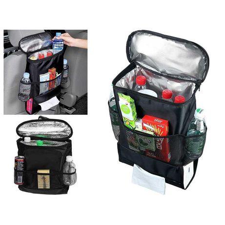 Хладилна чанта за кола/  Термо органайзер за седалка на кола с 5 джоба