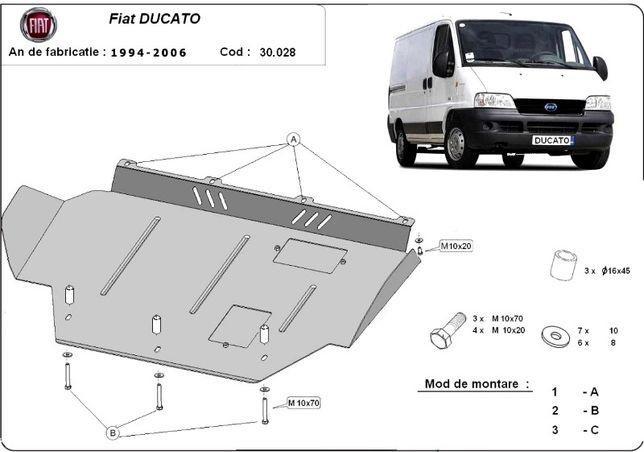 Scut motor metalic pentru Fiat Ducato 1995-prezent - otel 2-2.5mm