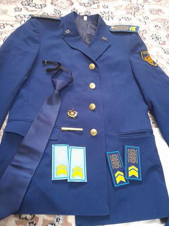 Повседневная, парадная военная форма СВО ВС РК синий цвет