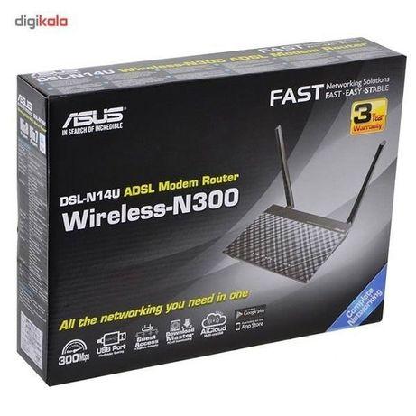 Роутер Asus DSL-N14U с поддержкой ADSL, Wi-Fi и USB (Новый)