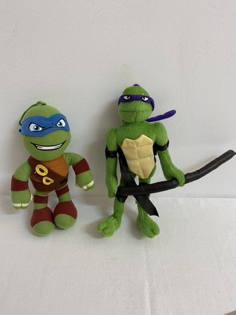 TURTLES Țestoasele ninja lot 2 bucăți jucărie din pluș 20 cm.