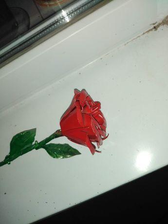 Розы из жести на 8марта