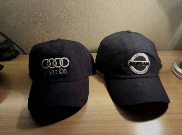 Зимни шапки с уши и козирка на автомобилни марки!