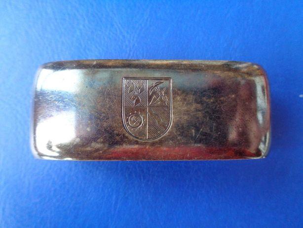 Inel pentru servet cu blazon . Colectie . argint 925