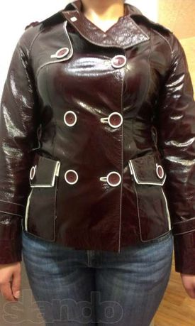 Куртка женская кожаная демисезоная