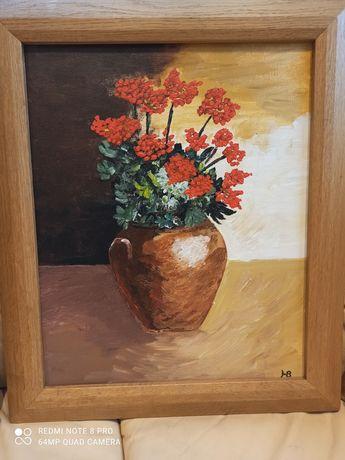 Картина,платно,цветя