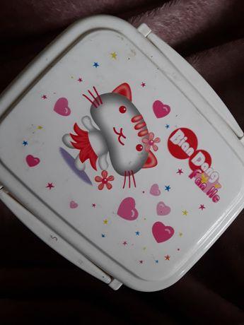 Cutie mancare copii Fan He pisica sendvis