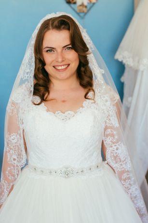 Rochie de mireasa ivory, corset! Marime 46-50 !