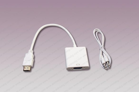 ANIMABG HDMI към VGA преобразувател с аудио 3.5мм