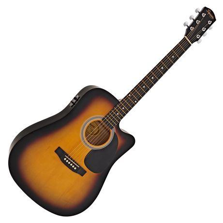 Электроакустическая гитара Fender Squier SA-105CE