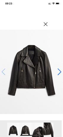 Massimo dutti куртка кожа натуральная новая