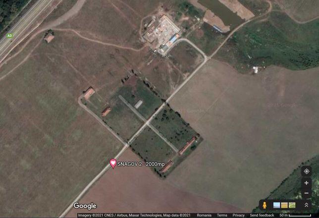 teren intravilan nod rutier Snagov Ghermanesti Autostrada A3