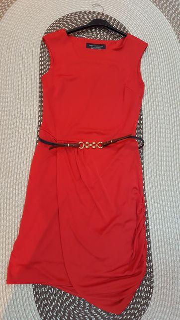 Rochie roșie Zara, model deosebit+ curelușă cadou