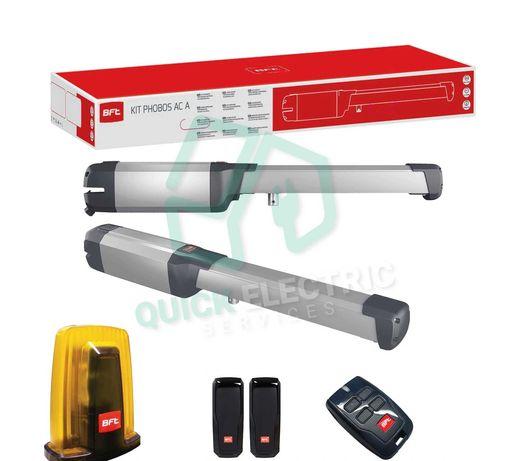 Kit automatizare poarta batanta BFT PHOBOS AC A25, 2.5 m/canat, 230 V
