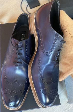 Pantofi Fratelli Rossetti luxury,antique blu Toledo,produs original.