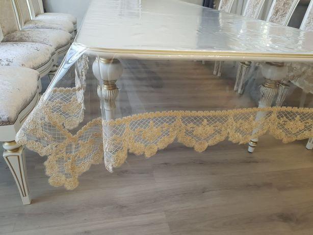 Скатерть Прозрачный стол кружева