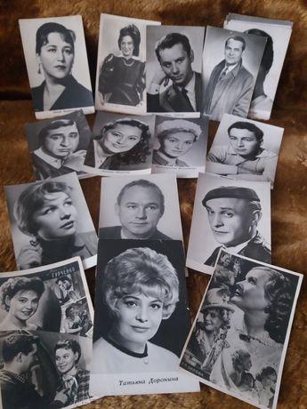 Фото-открытки любимых известных киноартистов советского времени