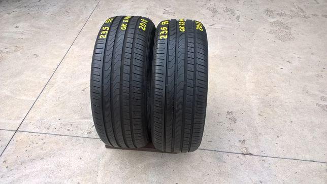 Doua anvelope de vara 235 55 18 pirelli scorpion verde 7,8 mm dot 2018