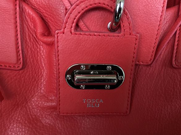 Кожена чанта Tosca Blu