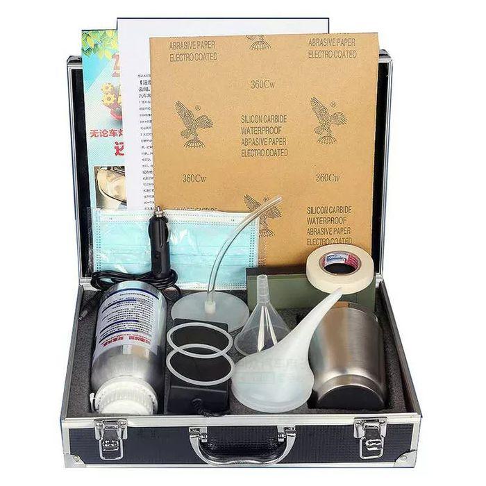 Комплект для химической полировки фар, набор. В кейсе. Алматы - изображение 1