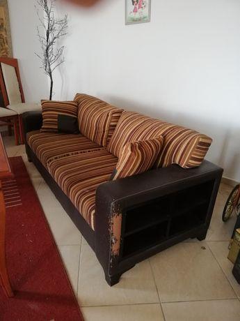 Кожен диван 201 см