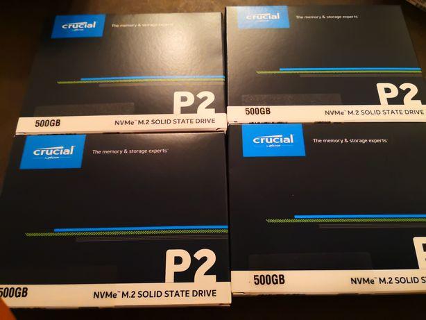 SSD Crucial P2 500GB nvme PCIe 3.0 x4 M.2 2280