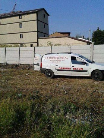 Gard beton garduri beton 160 lei ml montaj transport inclus