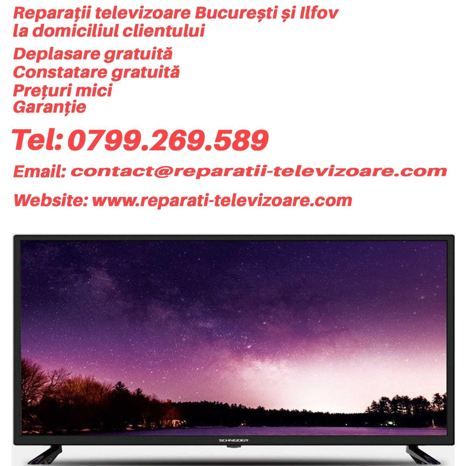 Reparatii televizoare LED, LCD, SMART TV in Bucuresti si Ilfov
