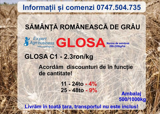 Samanta grau GLOSA C1 - Expert AGribusiness Fundulea