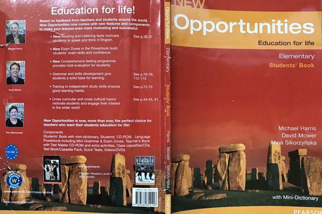 Учебник английского языка  NewOpportunities Elementary с мини-словарём