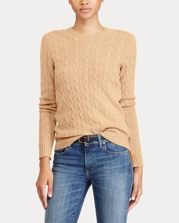 100% кашмир POLO RALPH LAUREN Cable-Knit Cashmere Sweater - р.М