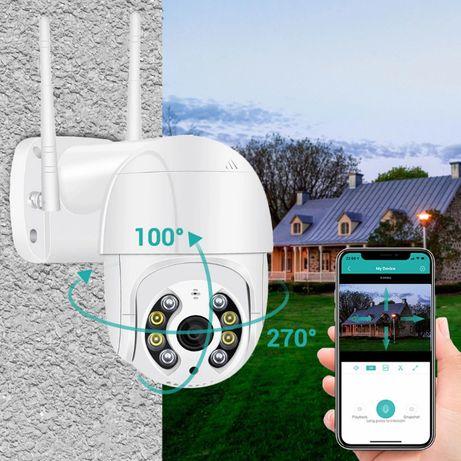 2mpx WiFi PTZ въртяща камера, FULLHD за външен монтаж + захранване 12