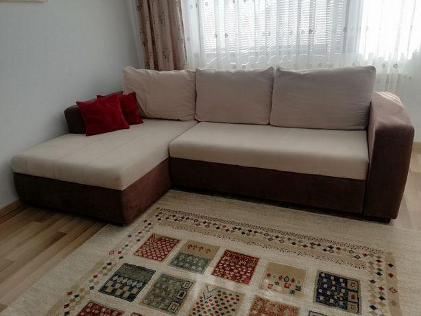Colțar canapea extensibil cu lada. Nou!