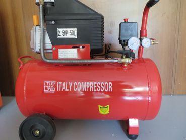 Компресор за въздух 50 литра 188 л в минута с 5 части сет за боядисван