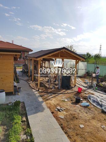 Навеси ремонт на покриви хидроизолация на покриви безшевни улуци