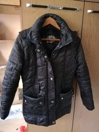 Тъмнокафяво дамско зимно яке