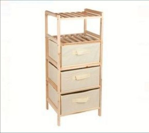 Дървена етажерка скрин шкаф