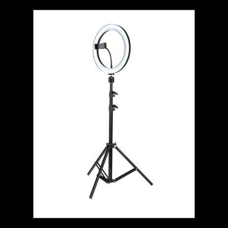 Ring Light LED 30cm cu trepied 210 cm, suport telefon -Lampa circulara
