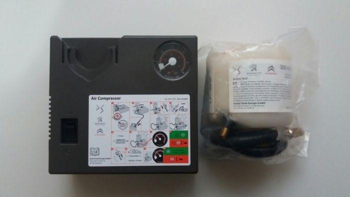 Compresor auto umflat roti + solutie kit pana original Peugeot Citroen Bucuresti - imagine 1