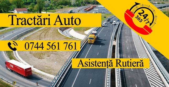 Tractari auto 24/24h Camione/Utilaje/Vulcanizare Mobila/Service Mobil